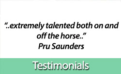 Testimonials about Kirsty's equine services